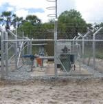 Borehole Installation, complete with fencing, lighting etc - Base Titanium, Ukunda, Mombasa